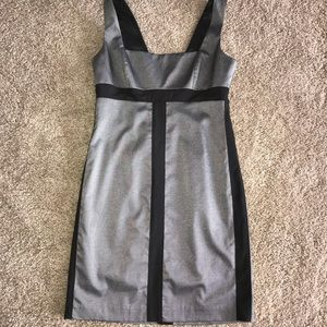 NWT! Bebe Grey and Black Dress